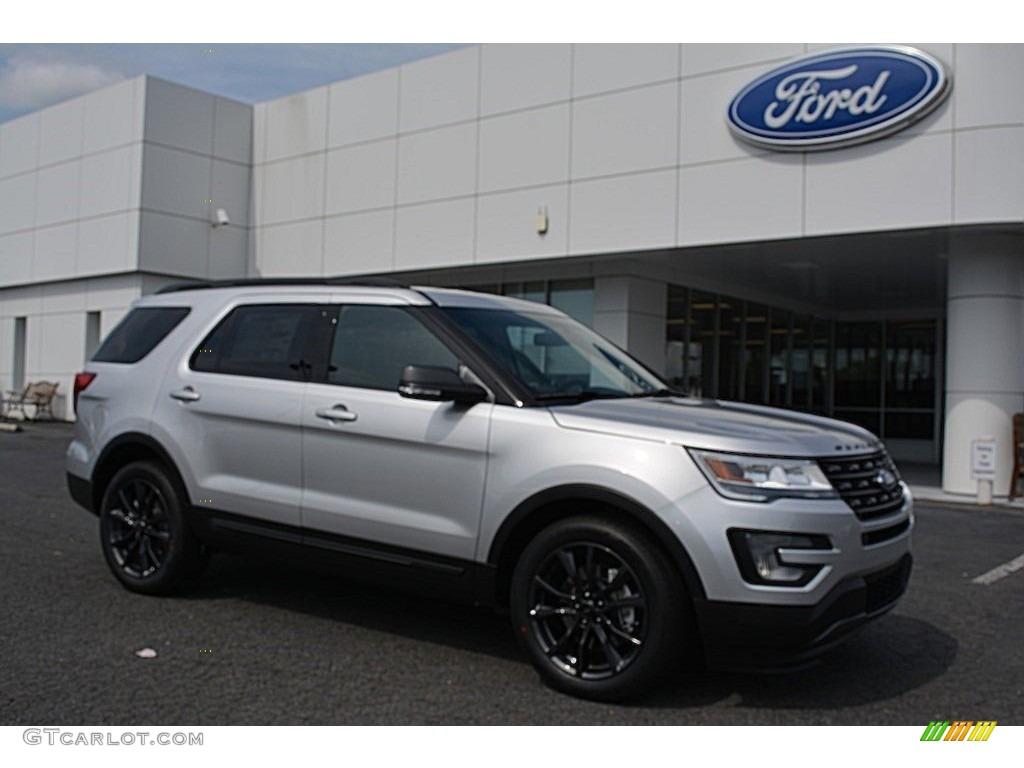 2017 Ingot Silver Ford Explorer Xlt 115251014 Photo 8