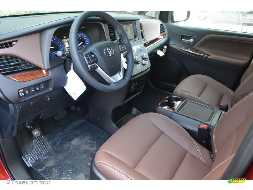 Chestnut Interior 2017 Toyota Sienna Limited Awd Photo