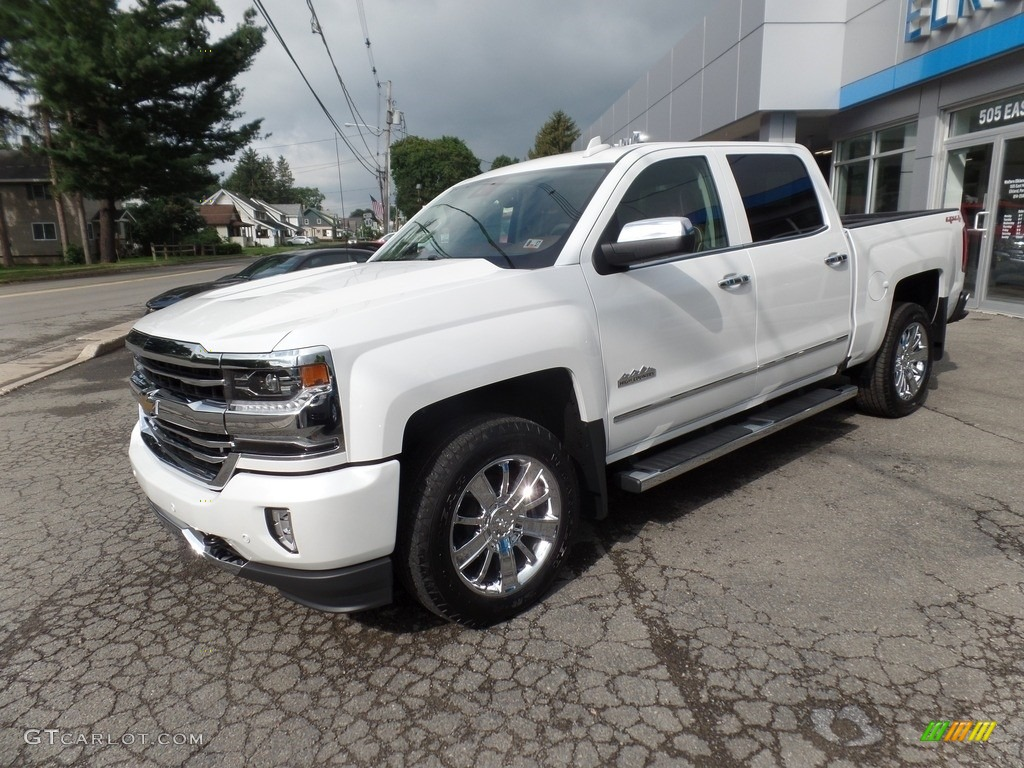Iridescent Pearl Tricoat 2017 Chevrolet Silverado 1500 High Country Crew Cab 4x4 Exterior Photo #115286701