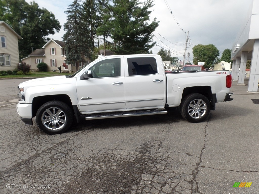 Iridescent Pearl Tricoat 2017 Chevrolet Silverado 1500 High Country Crew Cab 4x4 Exterior Photo #115286734
