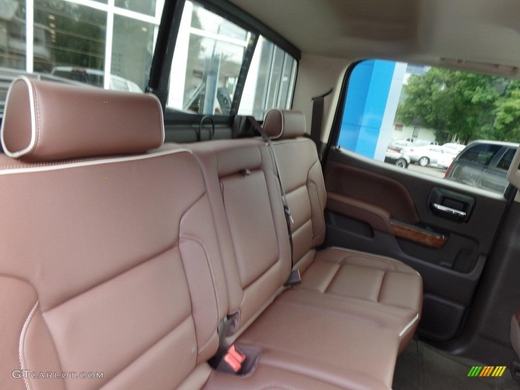 2017 Chevrolet Silverado 1500 High Country Crew Cab 4x4 Rear Seat Photo #115287196