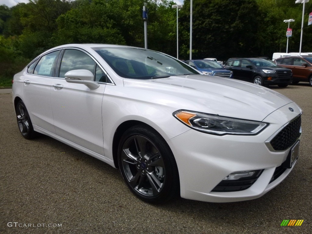 Oxford White Ford Fusion 2017 >> 2017 White Platinum Ford Fusion Sport AWD #115302631 Photo #8 | GTCarLot.com - Car Color Galleries