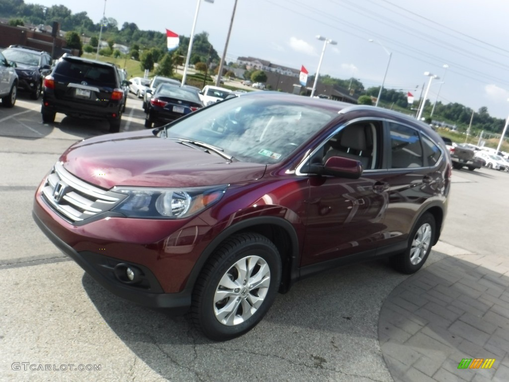 2014 CR-V EX-L AWD - Basque Red Pearl II / Gray photo #6
