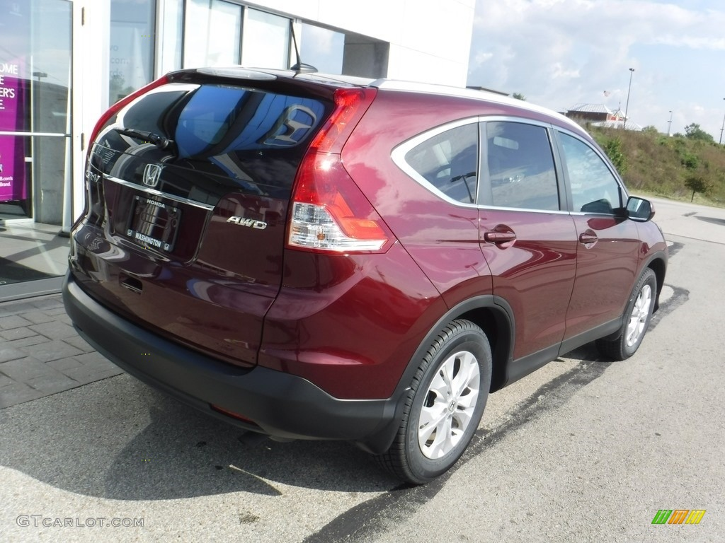 2014 CR-V EX-L AWD - Basque Red Pearl II / Gray photo #10