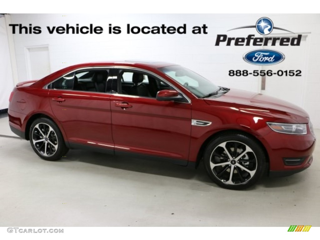 2016 Ruby Red Ford Taurus Sel Awd 115302493