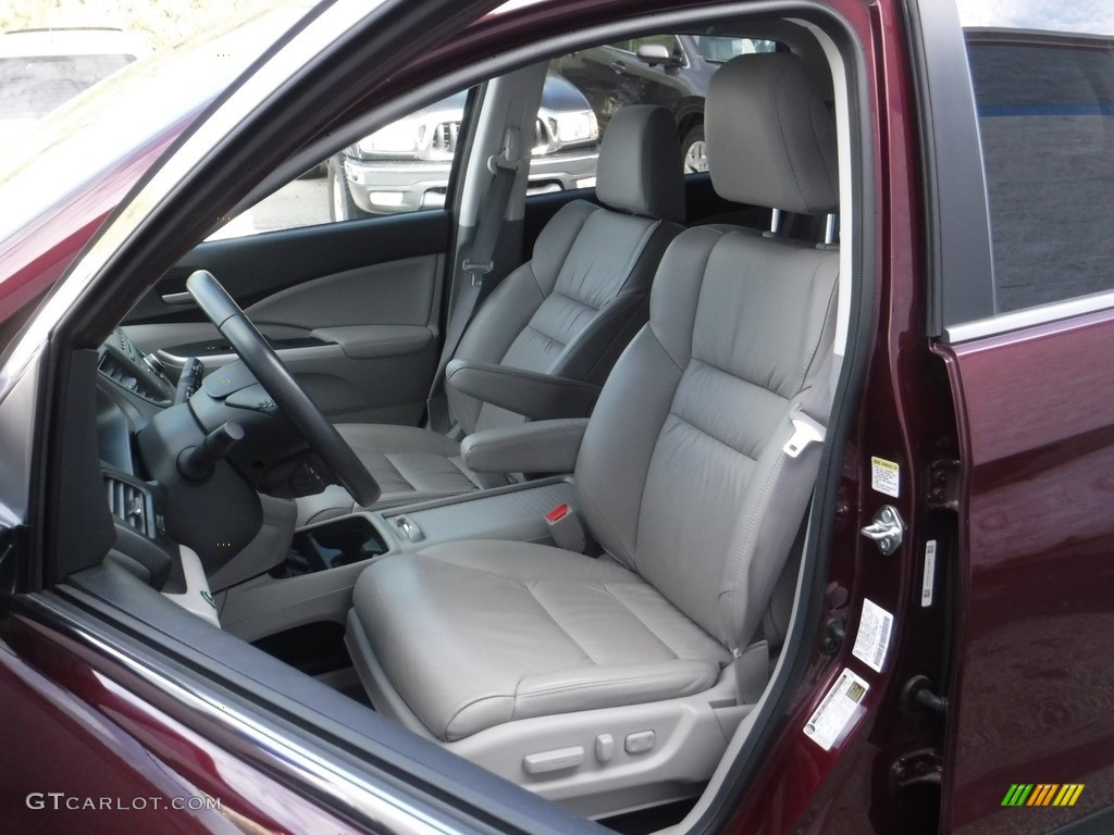 2014 CR-V EX-L AWD - Basque Red Pearl II / Gray photo #15