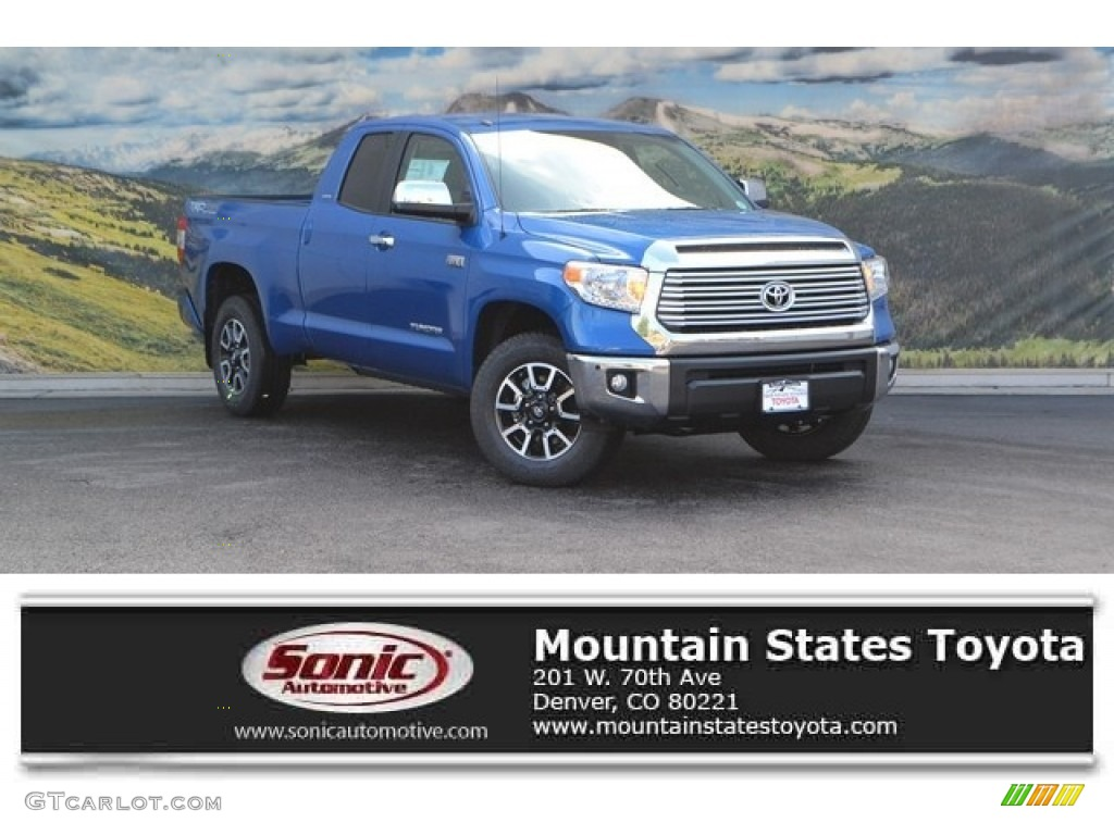 2016 Tundra Limited Double Cab 4x4 - Blazing Blue Pearl / Graphite photo #1