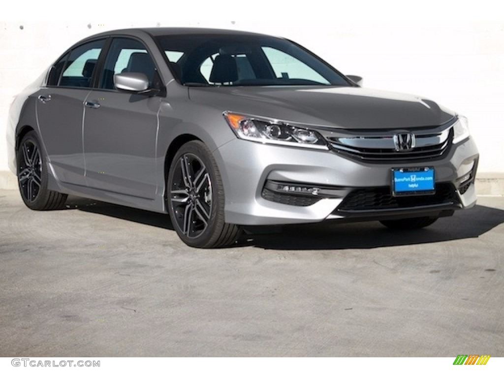 2017 Accord Sport Special Edition Sedan Lunar Silver Metallic Black Photo 1