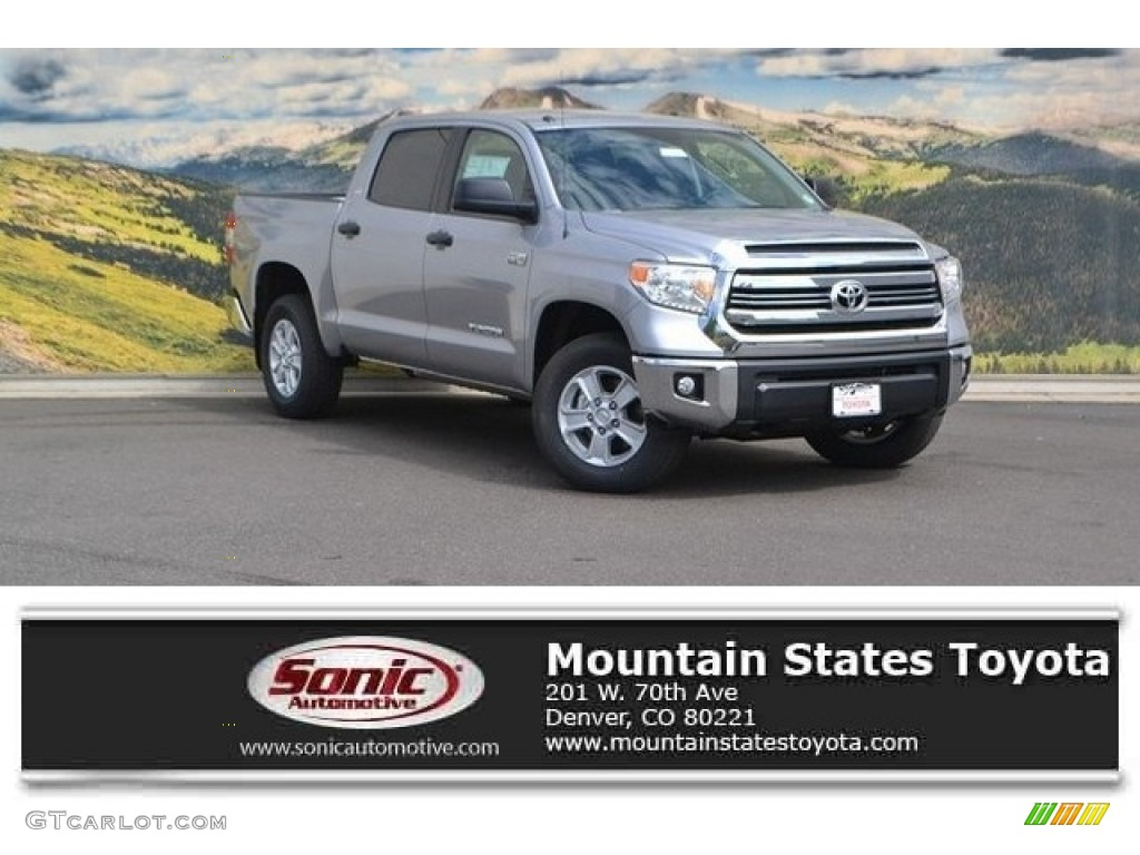2016 Tundra SR5 CrewMax 4x4 - Silver Sky Metallic / Black photo #1