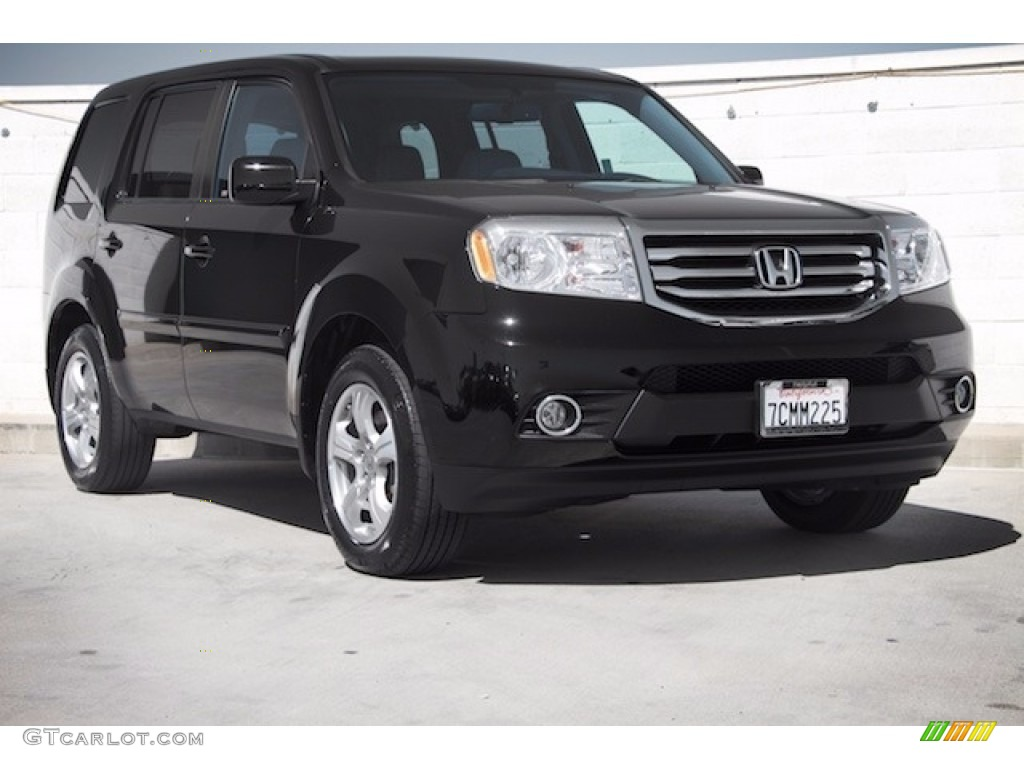 2013 crystal black pearl honda pilot ex l 115591005 photo for Black honda pilot