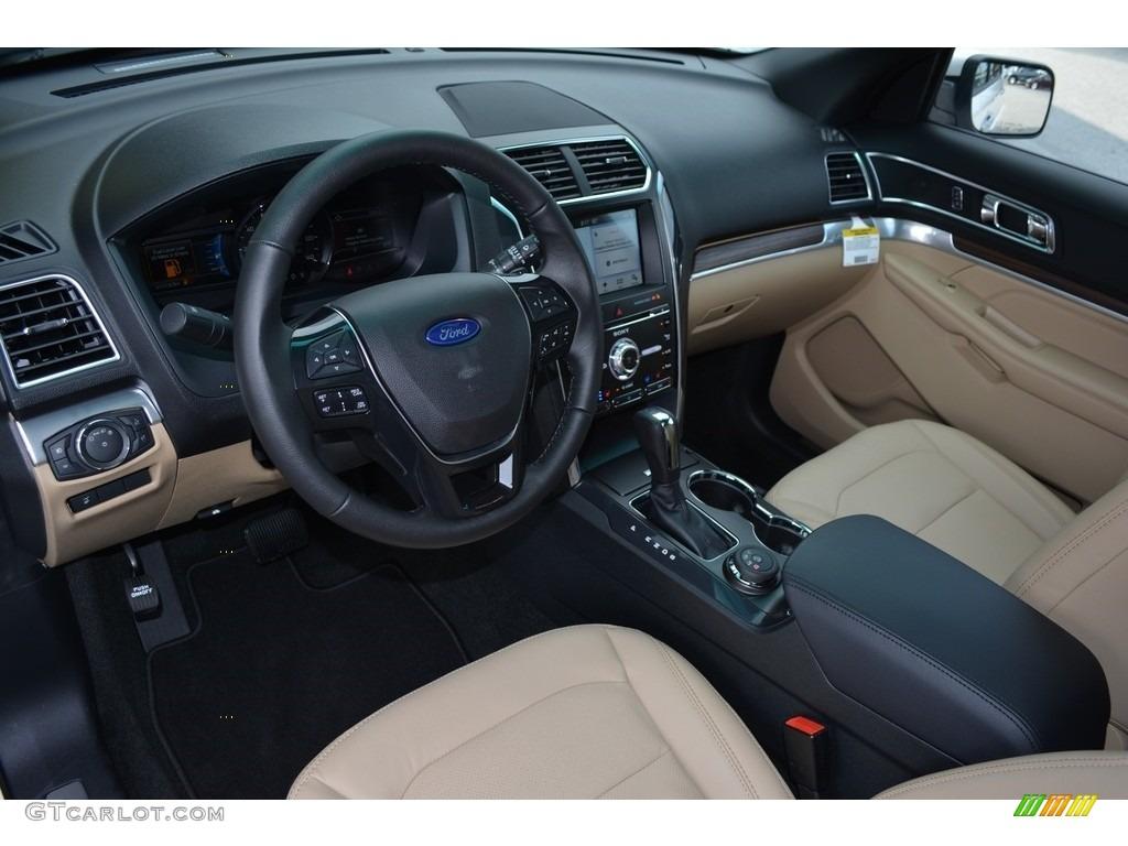 Medium Light Camel Interior 2017 Ford Explorer Limited 4WD Photo #115606249