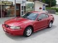 2001 Laser Red Metallic Ford Mustang V6 Coupe  photo #2