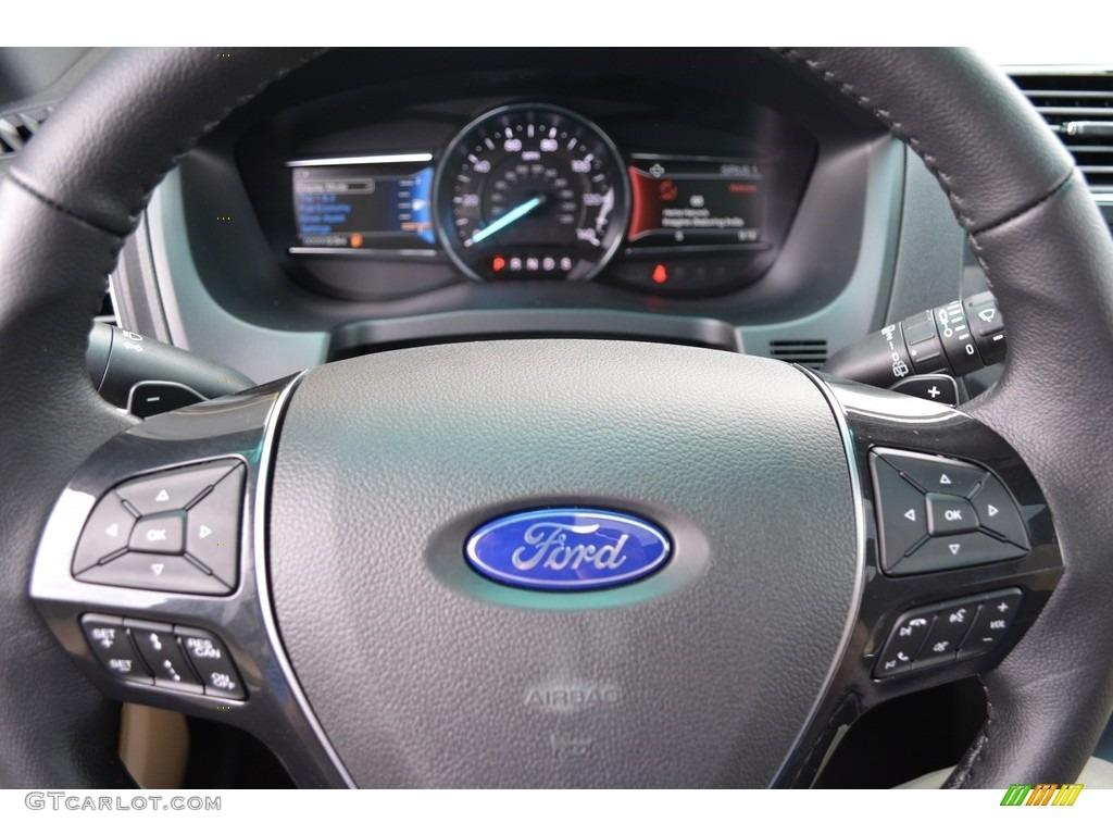 2017 Ford Explorer Limited 4WD Medium Light Camel Steering Wheel Photo #115606495