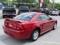 2001 Laser Red Metallic Ford Mustang V6 Coupe  photo #6