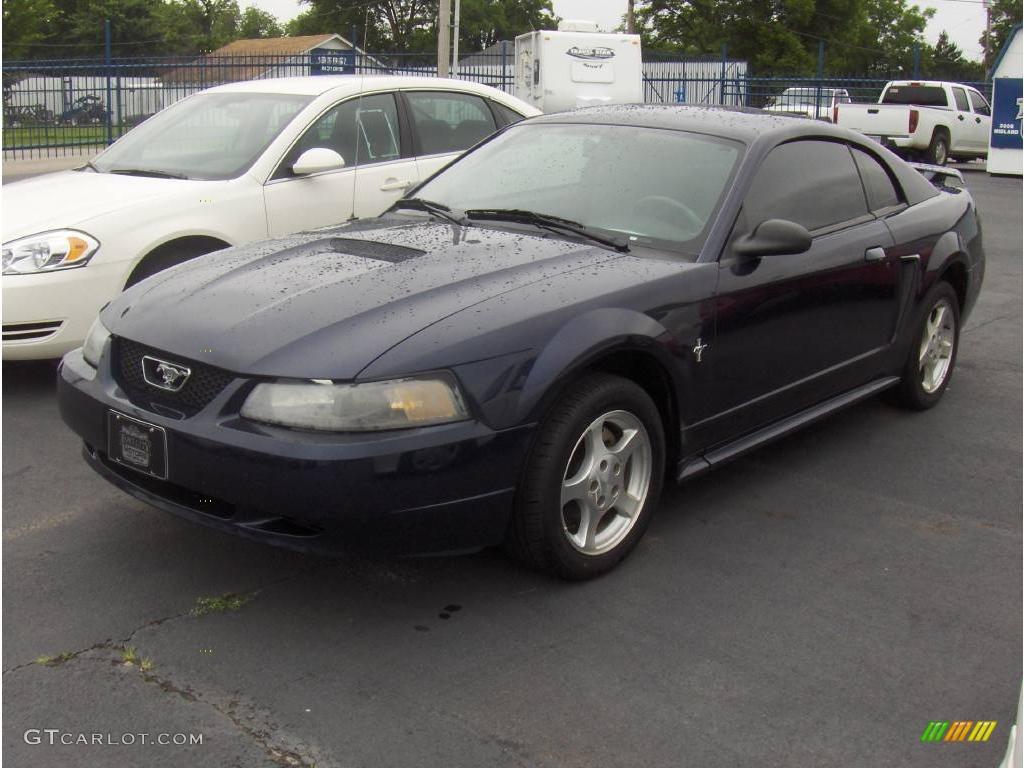 2002 true blue metallic ford mustang v6 coupe 11537319 gtcarlot