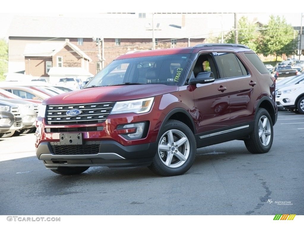 2017 Ruby Red Ford Explorer Xlt 4wd 115637881 Car Color Galleries