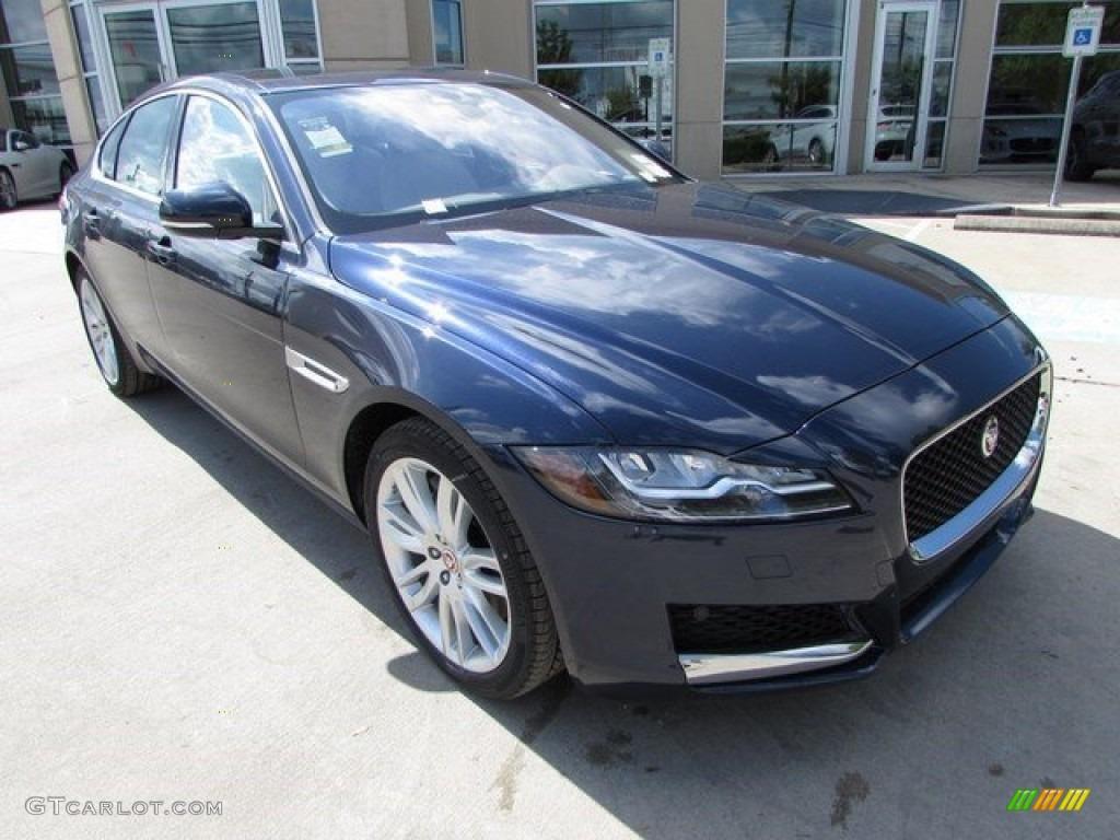 2017 dark sapphire blue jaguar xf 35t prestige 115638128 photo 2 car color. Black Bedroom Furniture Sets. Home Design Ideas