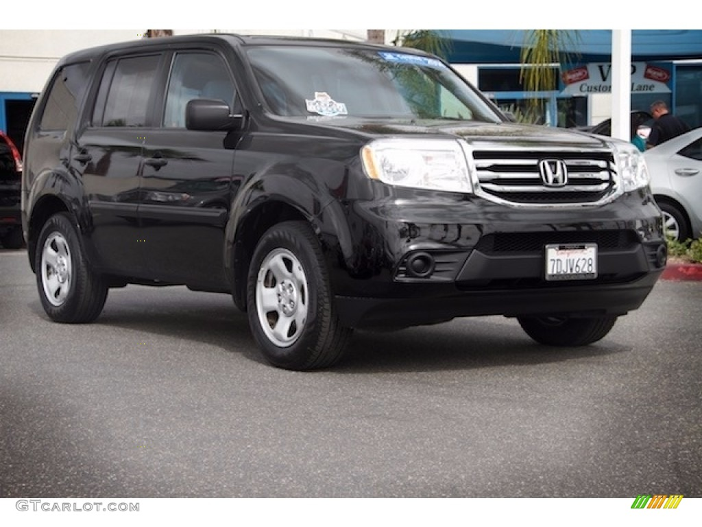 2014 crystal black pearl honda pilot lx 115661861 photo for Black honda pilot