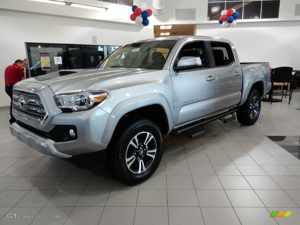 2017 silver sky metallic toyota tacoma trd sport double. Black Bedroom Furniture Sets. Home Design Ideas