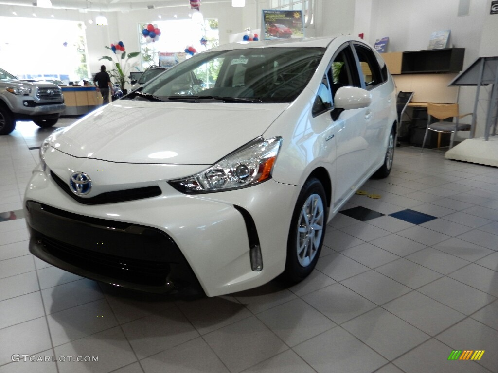 2017 blizzard white pearl toyota prius v four 115662034 photo 4 car color. Black Bedroom Furniture Sets. Home Design Ideas