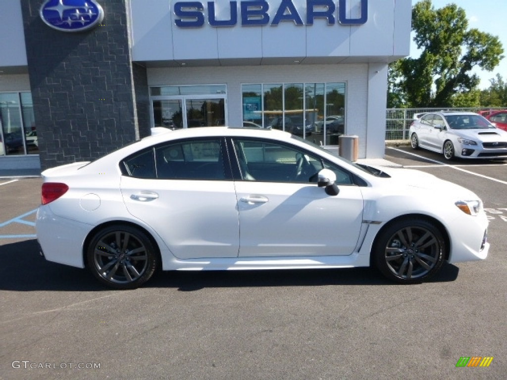 2017 Wrx Limited Crystal White Pearl Carbon Black Photo 3