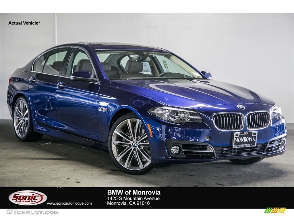 2016 Mediterranean Blue Metallic BMW 5 Series 528i Sedan