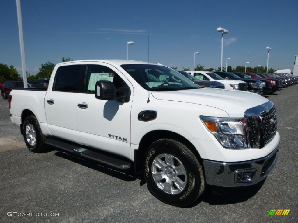 2017 glacier white nissan titan sv crew cab 4x4 115698632 car color galleries. Black Bedroom Furniture Sets. Home Design Ideas