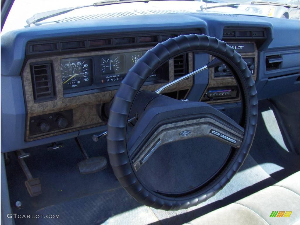1986 Ford F150 XLT Regular Cab - Light Smoke Metallic Color / Blue