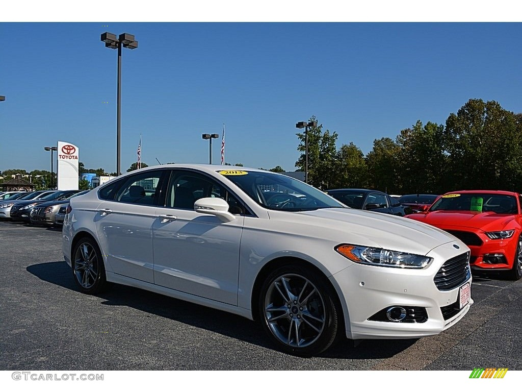 2013 Fusion Titanium AWD - Oxford White / Charcoal Black photo #1