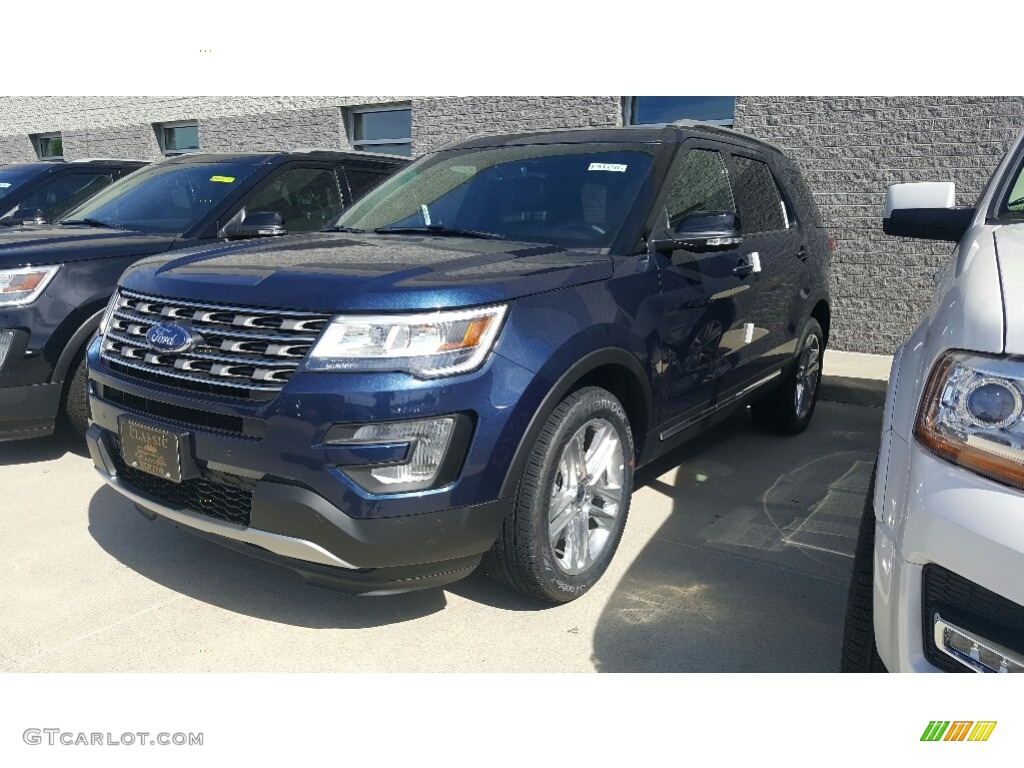 2017 Blue Jeans Ford Explorer Xlt 4wd 115721090