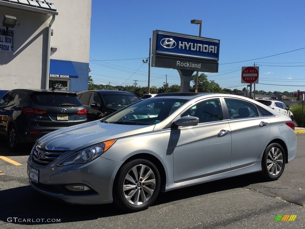 2014 iridescent silver blue pearl hyundai sonata limited. Black Bedroom Furniture Sets. Home Design Ideas