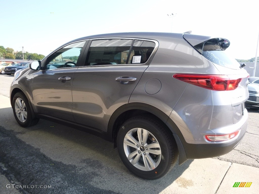 2017 Sportage LX AWD - Mineral Silver / Black photo #5