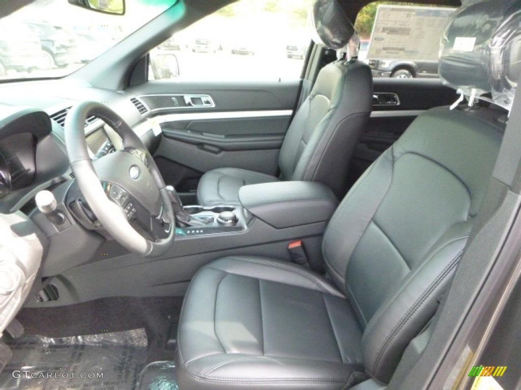 Ebony Black Interior 2017 Ford Explorer XLT 4WD Photo #115787012