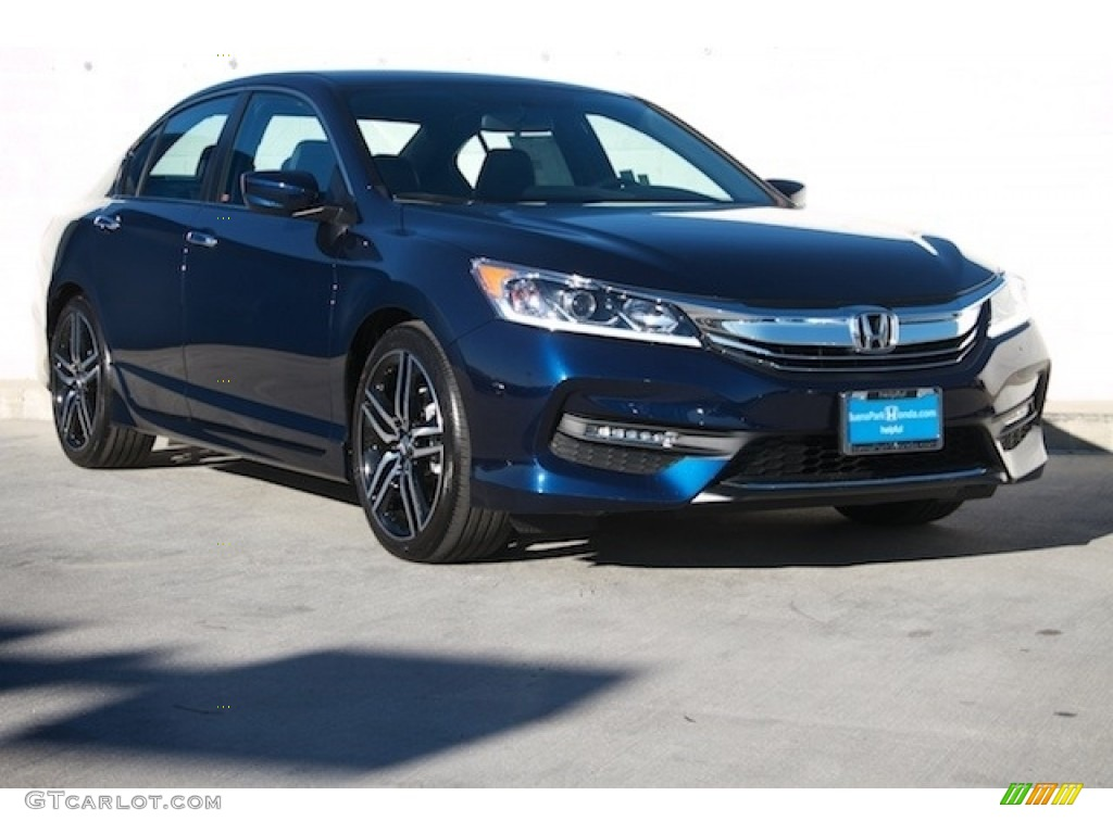 2017 obsidian blue pearl honda accord sport sedan