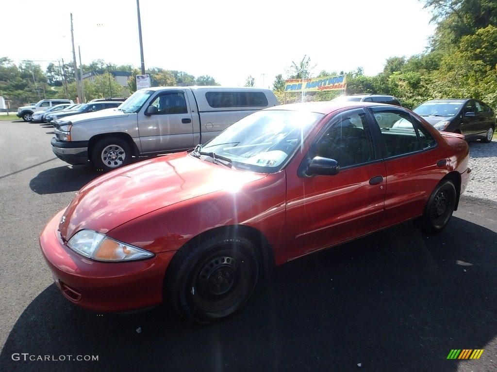 2001 Cavalier LS Sedan - Cayenne Red Metallic / Graphite photo #1