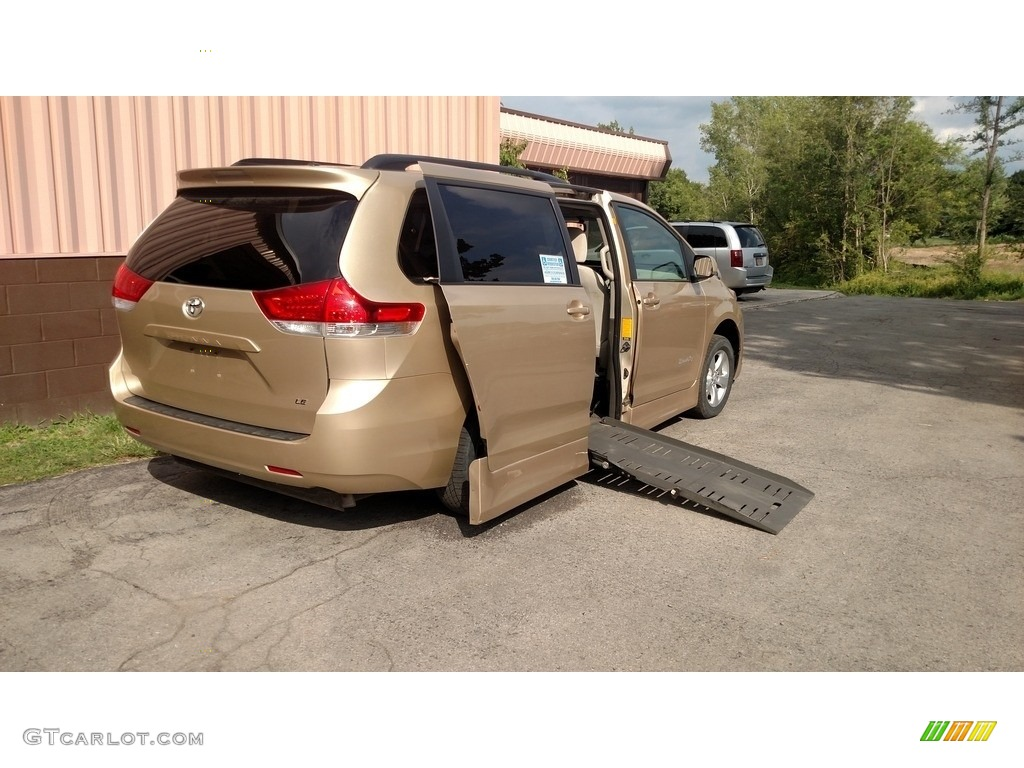 2012 Sienna LE - Sandy Beach Metallic / Bisque photo #1