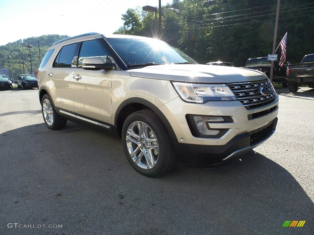 White Gold 2017 Ford Explorer Limited 4WD Exterior Photo #115864285