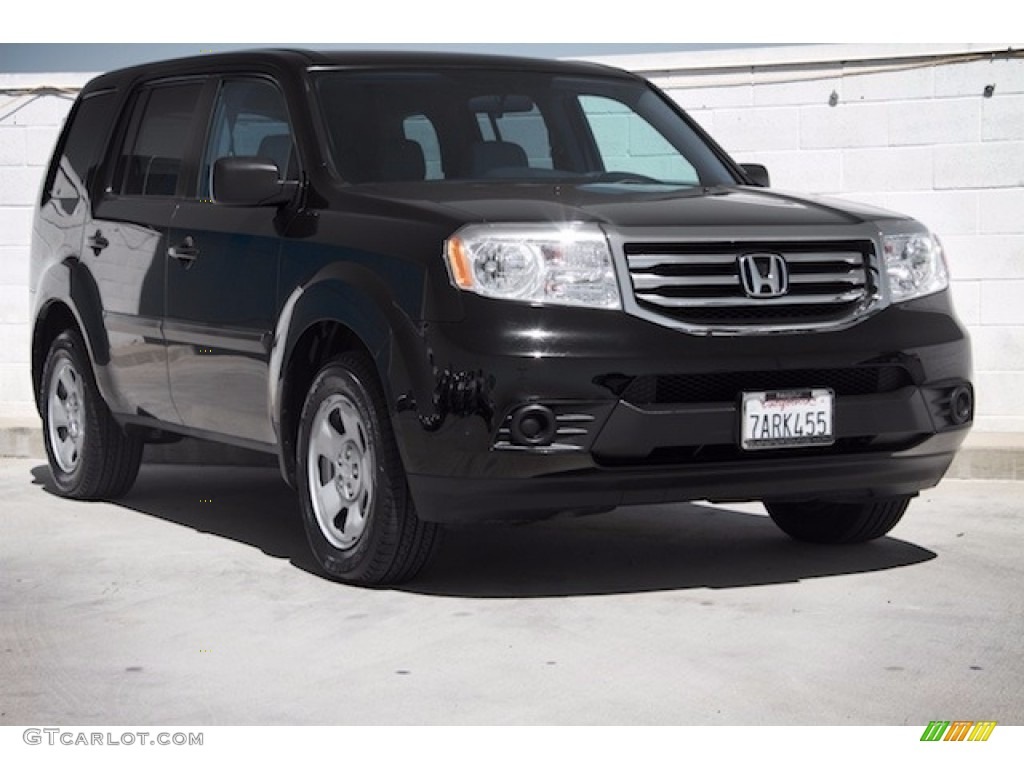 2013 crystal black pearl honda pilot lx 115868397 photo for Black honda pilot