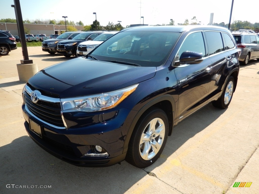 2016 nautical blue metallic toyota highlander hybrid limited awd 115924287 car. Black Bedroom Furniture Sets. Home Design Ideas