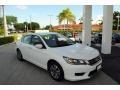 White Orchid Pearl 2014 Honda Accord LX Sedan