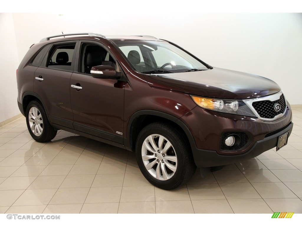 2011 dark cherry kia sorento ex awd 115924336 car color galleries. Black Bedroom Furniture Sets. Home Design Ideas