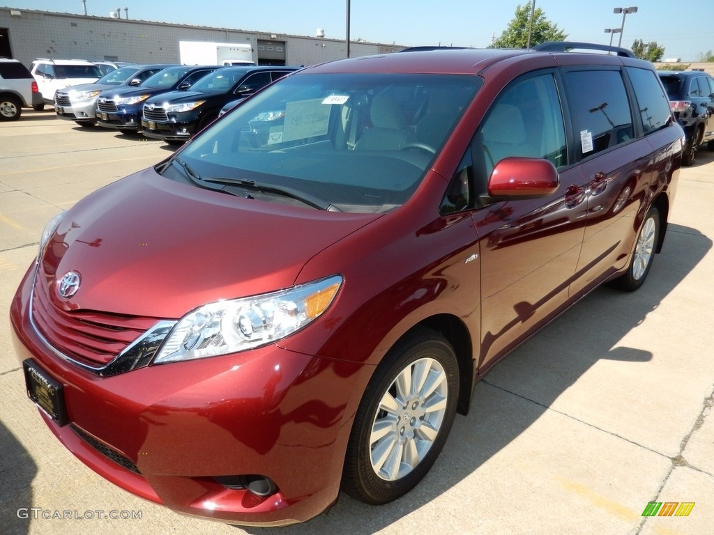 2017 salsa red pearl toyota sienna le awd 115924305 car color galleries. Black Bedroom Furniture Sets. Home Design Ideas