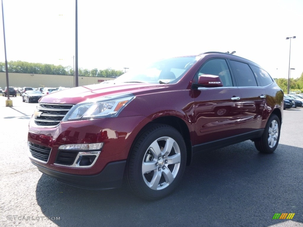 2017 Siren Red Tintcoat Chevrolet Traverse Lt Awd 115924149 Car Color Galleries