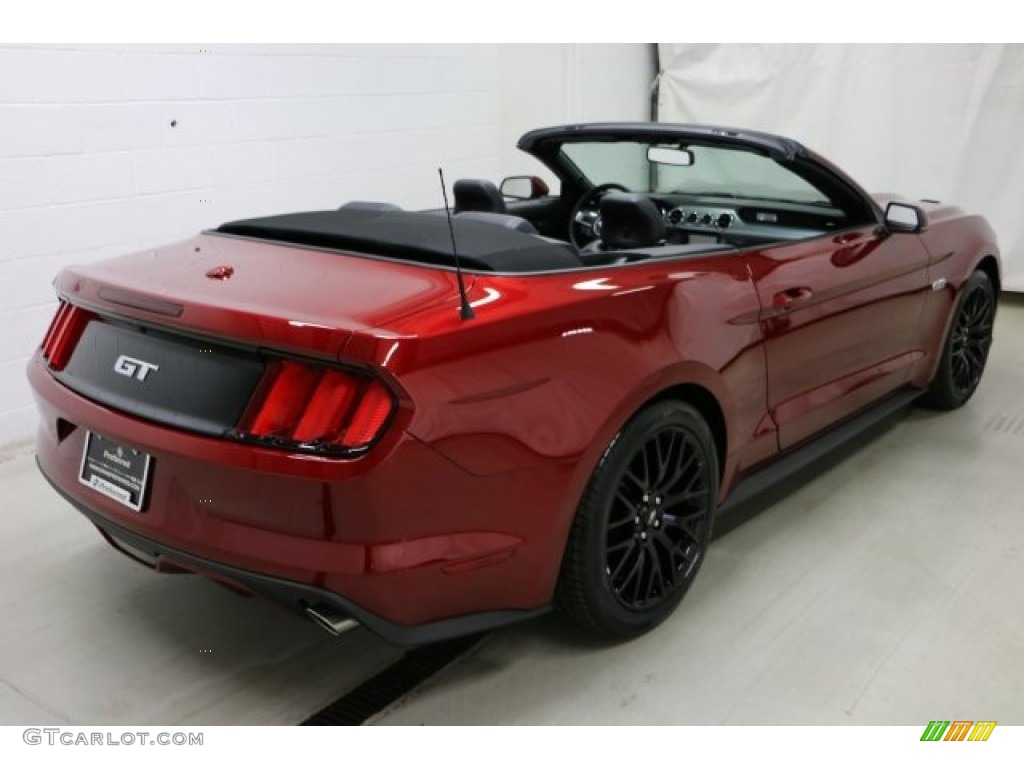 2017 Mustang Gt Premium Convertible Ruby Red Ebony Photo 6