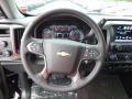 Jet Black Steering Wheel Photo for 2017 Chevrolet Silverado 1500 #115987802