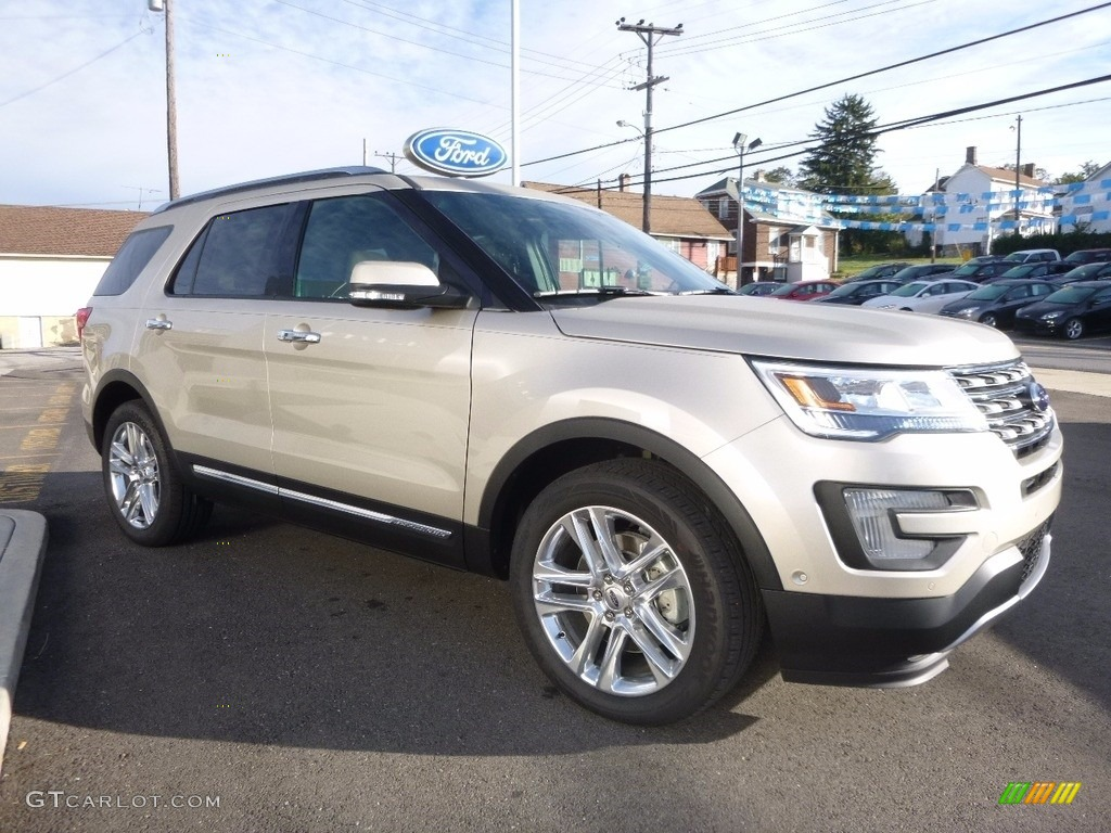 White Gold 2017 Ford Explorer Limited 4WD Exterior Photo #116032086