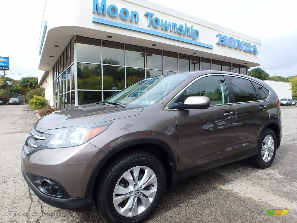 2014 CR-V EX AWD - Urban Titanium Metallic / Beige photo #1
