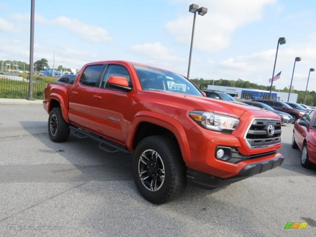 2017 Inferno Orange Toyota Tacoma Sr5 Double Cab 116076249