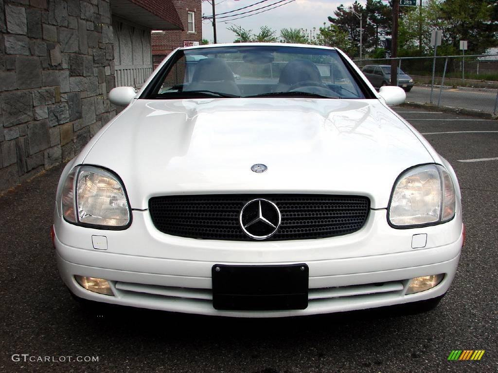 1999 glacier white mercedes benz slk 230 kompressor for Mercedes benz slk 1999