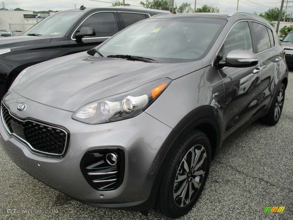 2017 Sportage EX AWD - Mineral Silver / Black photo #1